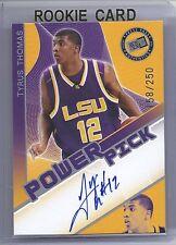 2006 Press Pass Basketball Tyrus Thomas LSU Power Pick Autograph Card #158/250