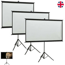 Full HD Portable Projector Projection Screen with Tripod Stand For 4:3&16:9&1:1
