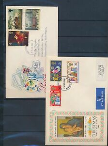 XC50764 Great Britain 1967 -1969 paintings art FDC's used