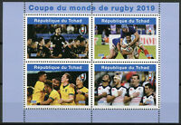 Chad 2019 MNH Rugby World Cup New Zealand Australia 4v M/S I Sports Stamps