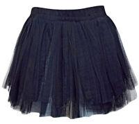 Black Pull On Luxury Netted Tutu Petticoat Sissy Skirt Fits Size 10-12-14(220302