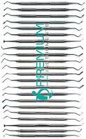 22 Pcs Dental Composite Plastic Amalgam Filling Restorative Premium Instruments