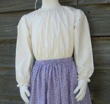 Girl Prairie Pioneer size S 5 6 peasant blouse costume cream muslin cotton