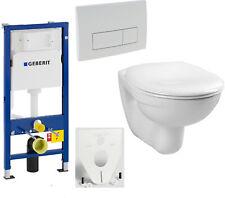 GEBERIT Duofix WC Element 112cm + Wand-WC LIFE + WC-Sitz + Betätigung DELTA51