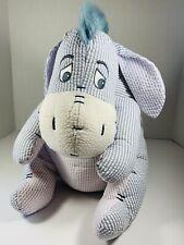 "Disney Eeyore Seersucker Plush 12"" Tall Winnie the Pooh Stuffed Animal"
