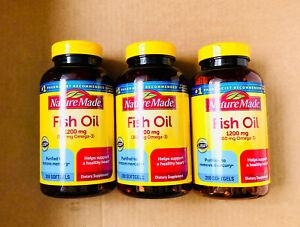 3-Pack Nature Made Fish Oil 1200 mg, EPA, DHA & 360mg OMEGA-3, 600 Softgels