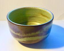 Vintage Charles Wilton Pottery Australia Small Green Stoneware Aurora Bowl