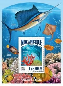 Mozambique - 2013 Tropical Fish and Coral Stamp Souvenir Sheet 13A-1375