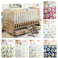 Baby Cot Flat Fitted Sheet Pillow Case Set Nursery Cot Bed Sheets Brushed Cotton
