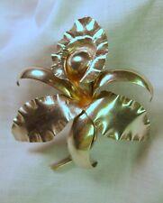 Pin/Brooch Handmade Vintage Sterling Silver 925 Iris