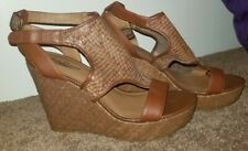 Lucky Brand Wedge Platform Sandals 9 Brown New