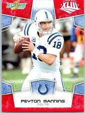 2008 Score Super Bowl XLIII Red #127 Peyton Manning Colts