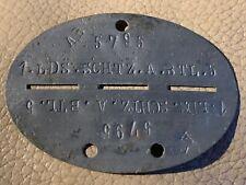 More details for original ww2 german army soldiers dog tags - 1.lds.schtz.a.btl.5 - b13