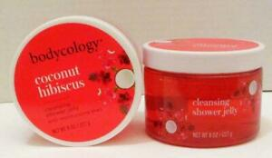 NEW LOT OF 2 BODYCOLOGY COCONUT HIBISCUS CLEANSING SHOWER JELLY BODY WASH 8OZ