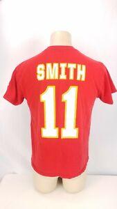 Kansas City Chiefs Football Shirt Alex Smith #11 NFL Graphic Tee Sz Medium M