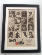 SLADE Nobody's Fools (red) 1976*ORIGINAL*POSTER*AD*FRAMED*FAST WORLD SHIP