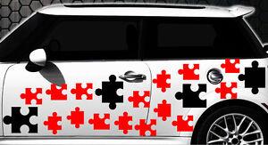 90-teiliges Puzzle Puzzleteile Puzzelteile Aufkleber SPRITZER WANDTATTOO Blume 1