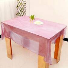 1PC Disposable tablecloth Pink tablecloth Solid color party plastic tablecloth