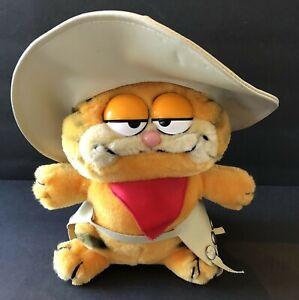 "Vintage Dakin Cowboy Garfield Plushy Plush Red Bandana Hat 9"" Tall 1981"