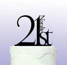 Elegant 21st Birthday Cake Topper