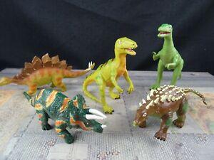 Konvolut 5 Dinos z.T. beweglich ca. 13- 18 cm Sp562