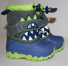 NWOB Cat & Jack Toddler Boys Blue Bernardo Monster Snow Boots sz 4