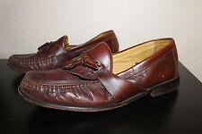 Florsheim Size 11 D/M Tassle Loafer Brown Leather Upper Bio Mens Shoe VGUC