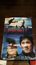 """Jackie Chan's Who Am I? Movie Poster, 1998 Promotional Print, 40""""x27"""", Kung Fu"""