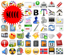 🥇 Icons Pack, 80000, PNG, ICO, Image, ideal for developer, PC, Digital, Icon.