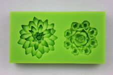 Water Lily & Rose Flower Silicone Mould Cake Icing Chocolate Baking SELLER C