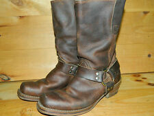 1990's Brown Leather Bike BootsEst.  Men's Size 8 - 8 1/2 By Loblan Used- Good