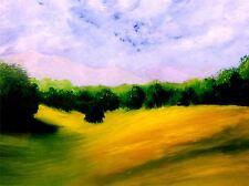 Impresión Cartel Pintura Paisaje de árboles de bosque de montaña de ensueño imagen lfmp1136