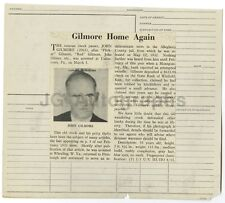 Police Booking Sheet - John Gilmore - Check Fraud - Uniontown, PA - 1934
