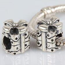 Regalo CON fiocco 925 argento Sterling Charm Bead Fits genuino Bracciale Europeo