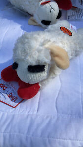 Multipet Lamb Chop Dog Toy Plush & Squeak Toys for Dogs & Puppies CHOOSE SIZE