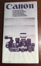 Canon Ae-1 514Xl Products Guide 1983 Snappy Af Movie Cameras. Multiple Languages