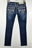 Rock Revival Yui Straight Stretch Jeans Womens Size 26 Blue Meas. 27x31