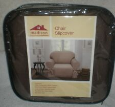 Madison Home Stretch Jersey Chair Slipcover Machine Washable (BROWN)