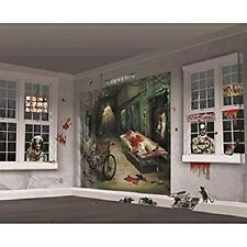 Halloween Zombie Wall Mural Decoration Set Banner Scary Wall Prop Bloody 32 PC