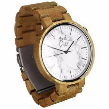 Armbanduhr aus Holz & Stein, Holzuhr   Herren   Holz: weiße Eiche   gravierbar