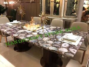 Agate Dinning Table, Agate Counter Top, Agate Buffet Counter, Conference Table
