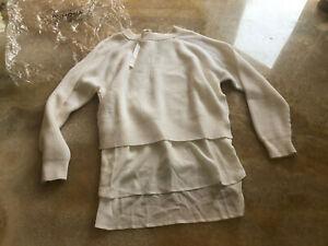 Agnona wool and silk tunic style  jumper, size M, UK 12, IT 44, RRP £ 785
