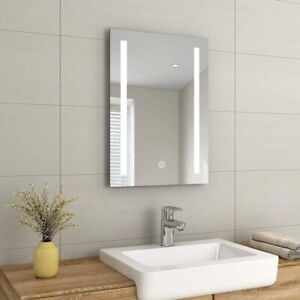 Anti-fog Illuminated LED Bathroom Mirrors Touch Switch Demister Wall Mounted
