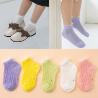 5 Pairs Summer Short Ankle Sock Thin Breathable Child Kids Socks Cotton Lace