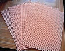 Uniek Quick Count 57013 Peach  Plastic Canvas 7 Mesh ~ 6 Sheets  10.5 x 13.5 In.