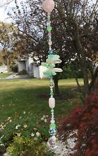 Handmade Healing Crystal Quartz Stone Suncatcher/Prism W/Swarovski Elements USA