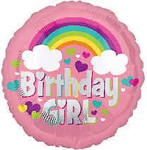 Amscan International 3557101 Foil Balloonsd-c Birthday Girl Rainbow