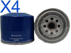 4X Oil Filter fits Z142 MITSUBISHICORDIA AB 4G62BT1.8L 4CYL Pet 1984-85