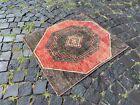 Bohemian rug, Handmade wool rug, Turkish vintage rug, Carpet   2,3 x 2,7 ft