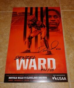 Cleveland Browns Denzel Ward Game Day Poster (vs. Buffalo Bills 11/10/19)